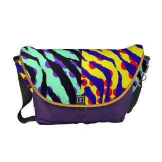 Zebra Stripe Pop Art Rickshaw Messenger Bag