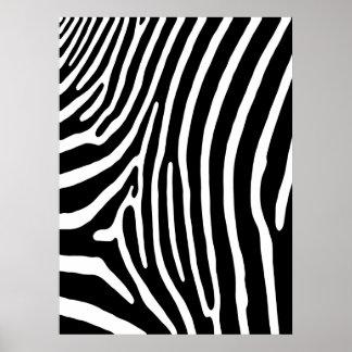 Zebra Stripe Print (black & white)