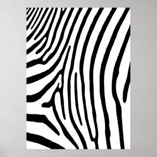 Zebra Stripe Print (white & black)