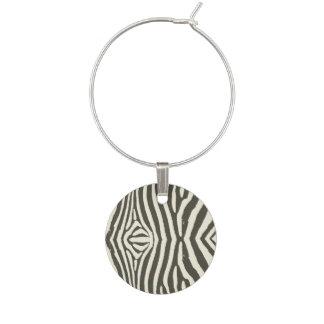 Zebra Stripe Wine Charm