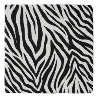 Zebra Striped Modern Coaster