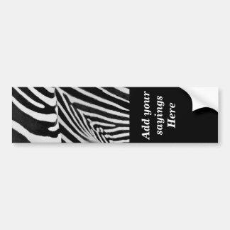 Zebra Stripes#3_ Bumper Sticker