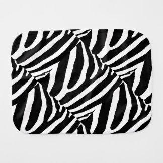 ZEBRA STRIPES (a Black & White design) Burp Cloths