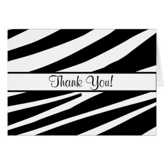 Zebra Stripes All Ocassion Thank You Note Greeting Cards