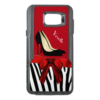 Zebra Stripes and Heels Otterbox Samsung Note 5