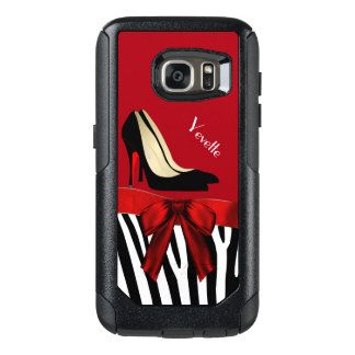 Zebra Stripes and Heels Otterbox Samsung S7 Case