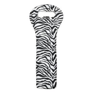 Zebra Stripes Animal Print Pattern Wine Tote Bag