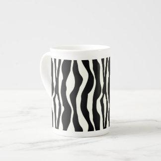 Zebra stripes - Black and White Bone China Mug