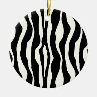 Zebra stripes - Black and White Christmas Ornaments