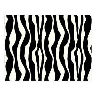 Zebra stripes - Black and White Postcard