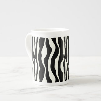 Zebra stripes - Black and White Tea Cup