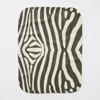 Zebra Stripes Burp Cloths