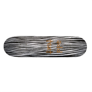 Zebra Stripes Cool Fun Funky Skateboard