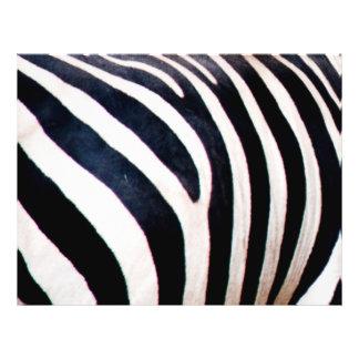 Zebra stripes personalized flyer