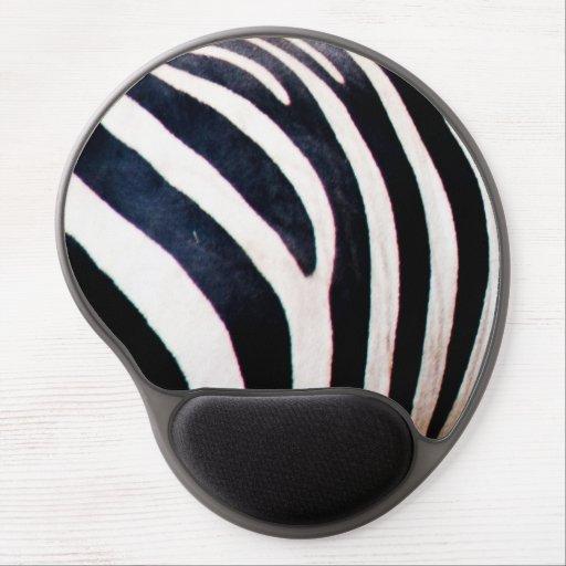 Zebra stripes gel mouse pads