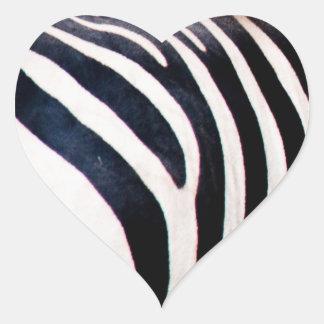 Zebra stripes heart sticker