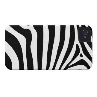 Zebra stripes in black and white pattern design iPhone 4 case