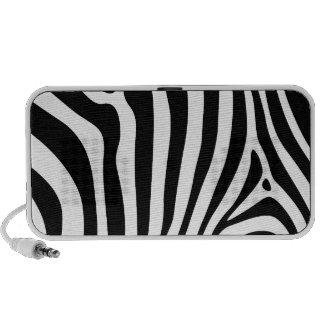 Zebra stripes in black and white pattern design speaker system