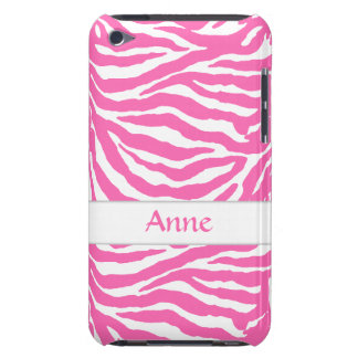 Zebra Stripes In Hot Pink On iPod Touch Case-Mate iPod Touch Covers