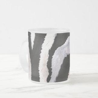 Zebra Stripes (Kimberly Turnbull Art) Frosted Glass Coffee Mug