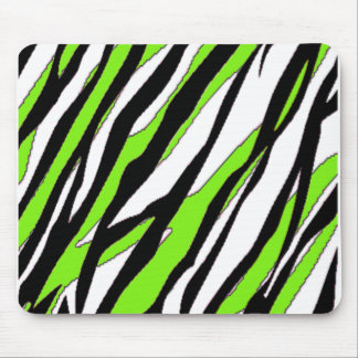 Zebra Stripes Lime Green Mouse Pad