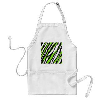 Zebra Stripes Lime Green Standard Apron
