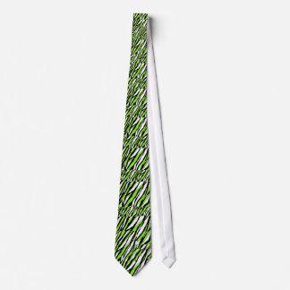 Zebra Stripes Lime Green Tie