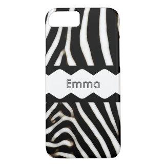 Zebra Stripes Monogram iPhone 8/7 Case