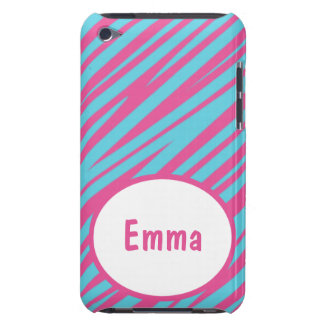 Zebra Stripes Pink-Blue iPod Touch Case-Mate iPod Touch Case-Mate Case