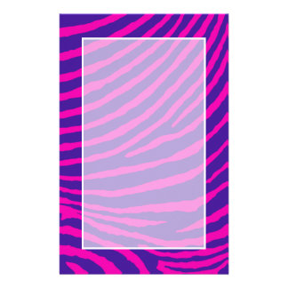 ZEBRA STRIPES: PURPLE and HOT PINK Stationery
