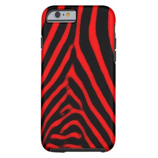 Zebra Stripes- Red Tough iPhone 6 Case