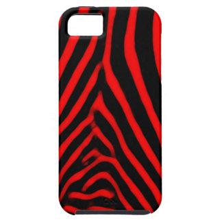 Zebra Stripes- Red Tough iPhone 5 Case