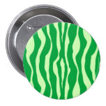 Zebra stripes - Shades of Lime Green Pin