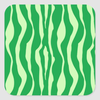 Zebra stripes - Shades of Lime Green Square Sticker