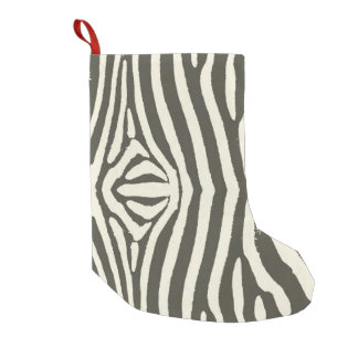 Zebra Stripes Small Christmas Stocking