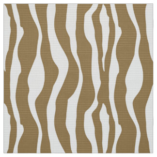 Zebra stripes - Taupe Tan and White Fabric