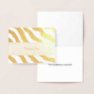 Zebra Stripes Thank You Foil Card