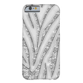 Zebra Stripes White Diamond iPhone 6 case Barely There iPhone 6 Case