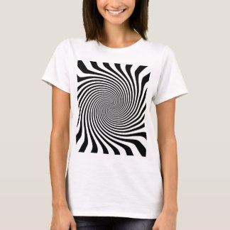 Zebra Style Black and White Infinite Swirl T-Shirt