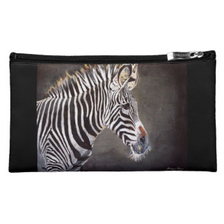 Zebra Suede Cosmetic Bag