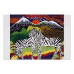 ZEBRA SUNSET,  African Collection Print