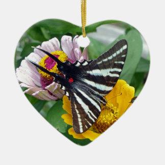 Zebra Swallowtail+Japanese Beetle Ceramic Ornament