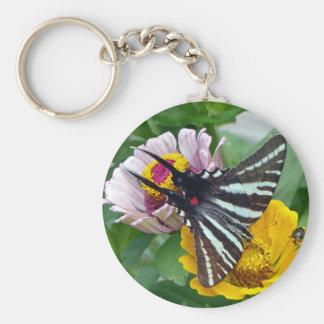 Zebra Swallowtail+Japanese Beetle Key Ring