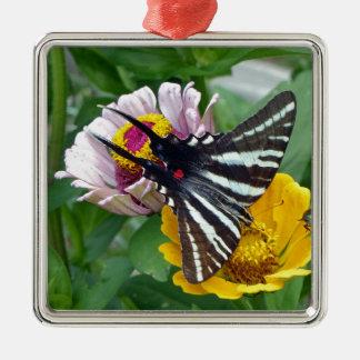 Zebra Swallowtail+Japanese Beetle Metal Ornament