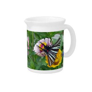 Zebra Swallowtail+Japanese Beetle Pitcher