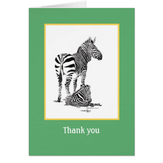 Zebra Thank-You card
