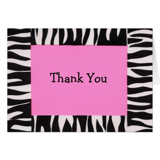 Zebra, Thank You Card