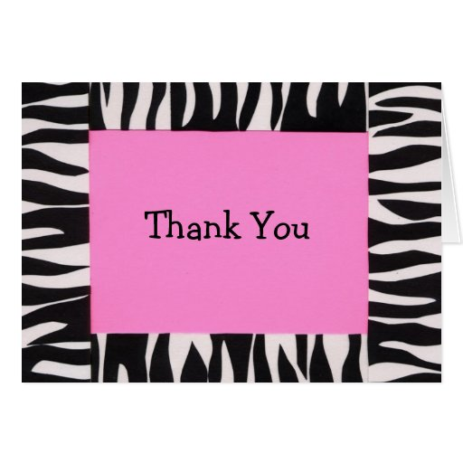 Zebra, Thank You Note Card