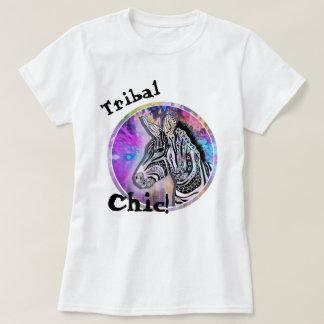 Zebra Tribal black and white tattoo style T-Shirt