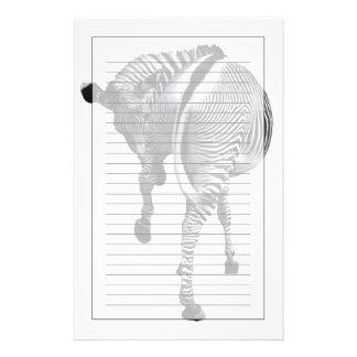 Zebra turning around stationery